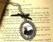 Black Rabbit Vintage Style Cameo Necklace