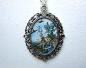 Swallows in Spring Cameo Necklace