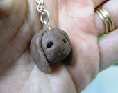 Reserved for Pascale Pumpkin the fawn brown bunny Necklace