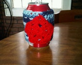 Red Star Patriotic Can Cozie