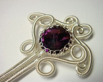 Wire Jewelry Tutorial - Queen Amethyst HairPin
