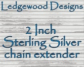 2 Inch Sterling Silver Chain Extender