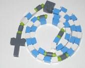 The Original Catholic Lego Rosary for Boy or Girl - Blue and White
