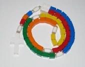 The Original Lego Rosary -  Rainbow Catholic First Comunion Gift Boy or Girl