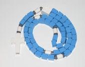 The Original Catholic Lego Rosary - Blue & White for Boys First Communion Gift