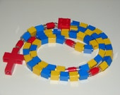 The Original Catholic Lego Rosary - Blue, Yellow, and Red (The Swiss Guard)