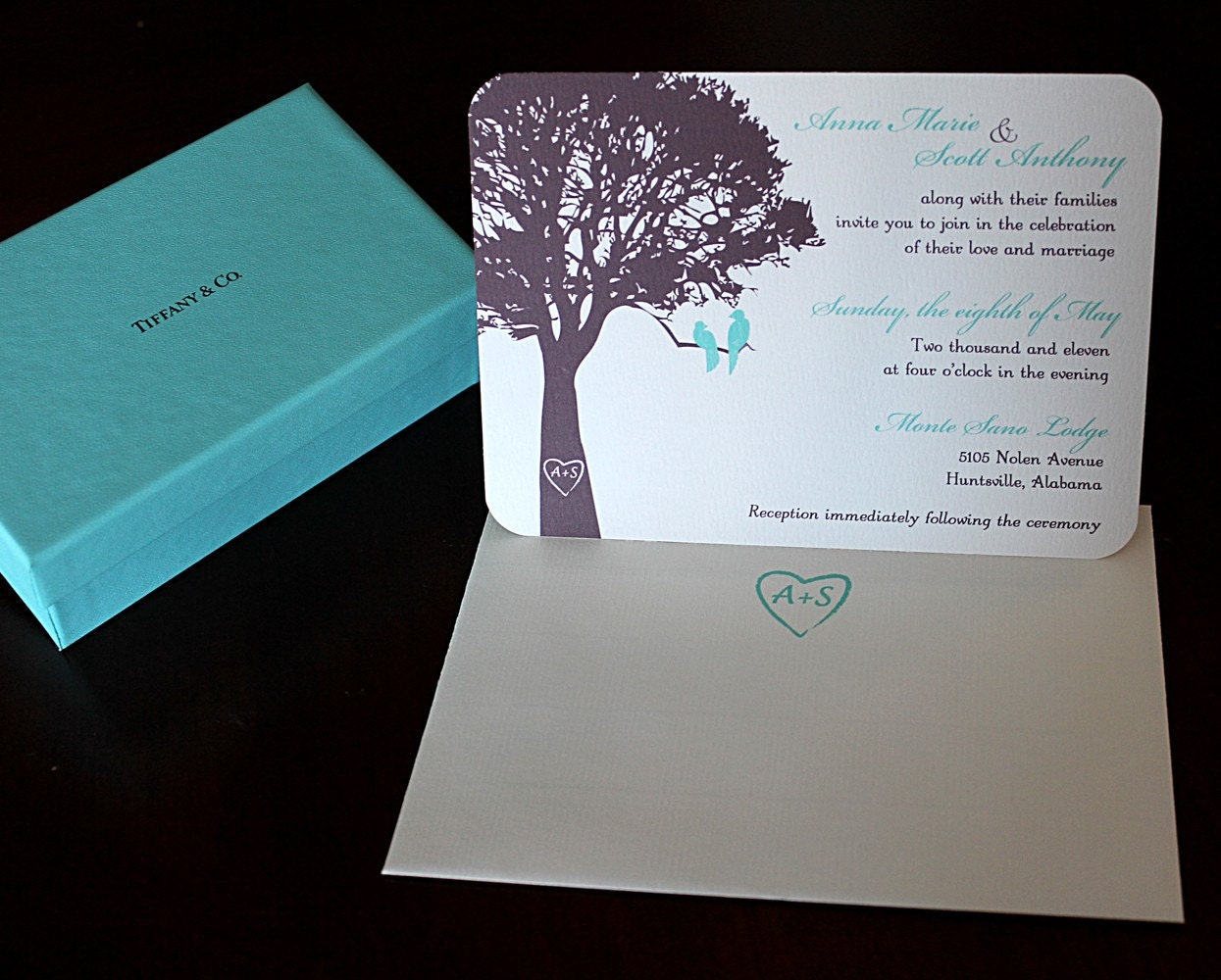 Bird Wedding Invitation: Love Birds In A Tree Wedding Invitation SAMPLE