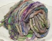 PURPLE ETC core spun hand spun yarn 32 yard 3.4 ounces