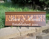 REITNAUER - Last Name with First Name overlay personalized sign with moulding