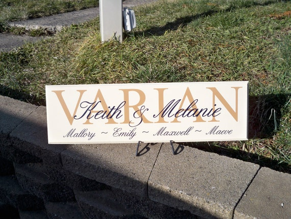Family Member Personalized Sign - VARIAN