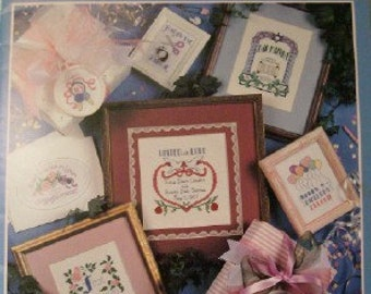 Moments and Milestones cross stitch pattern booklet