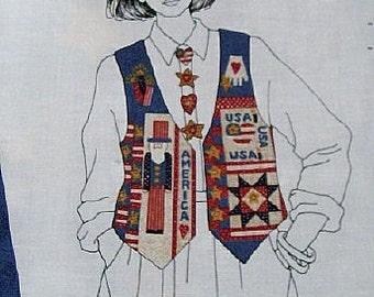Ladies'/Women's Americana Vest Multi-sized