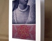 50% OFF Note card, blank - Strange Allure - nostalgic, feminine, exotic