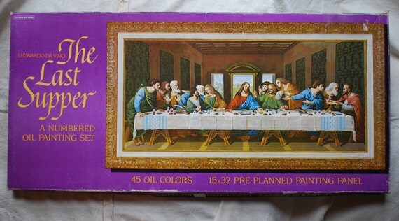 1970s Last Supper Paint By Number Kit