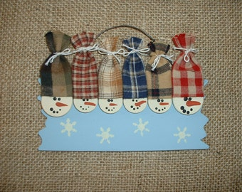 Personalized Snowmen Christmas ornament - Six family