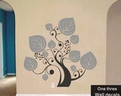one three Wall Decals Stickers Vinyl big tree7