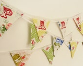 Party Garland Bunting in Vintage Fabrics