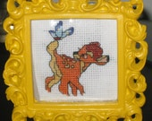Finished Disney's  Bambi Mini Cross Stitch