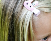 Sweet Pink Bunny Hair Clip Great for Easter Birthday Gifts