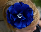 Shabby Chic Navy Blue Chloe Flower Clip Ideal for Brides Bridesmaids Flower Girls Proms and Special Occasion