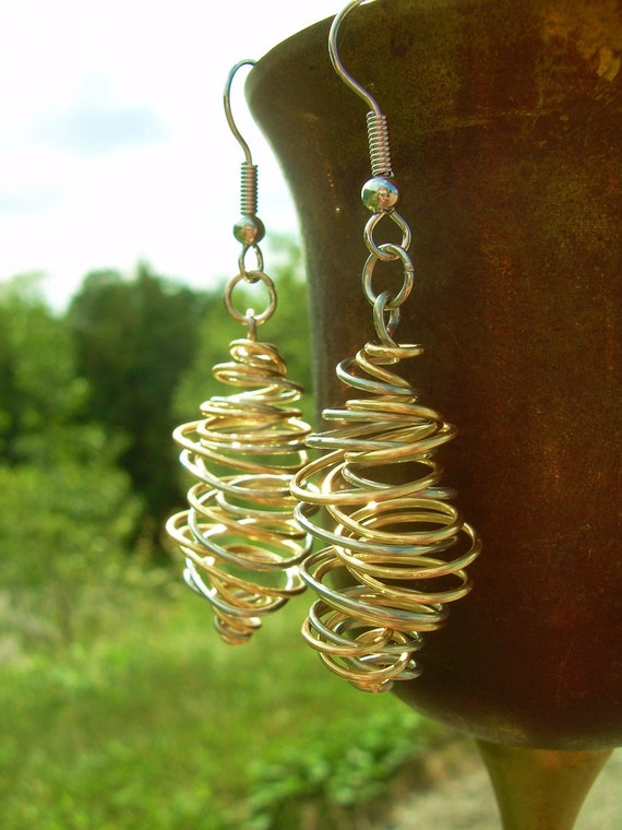 Quantum Squiggle Earrings - Silver/Gold