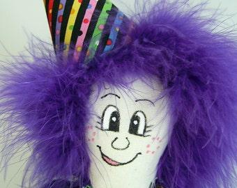 Happy Birthday Cloth Doll Decoration PinHead Happy Face (TM)
