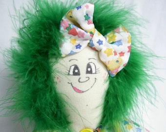 I Love You To The Moon and Back Doll PinHead Happy Face(TM)  Doll - Pearl PinHead (TM) Doll