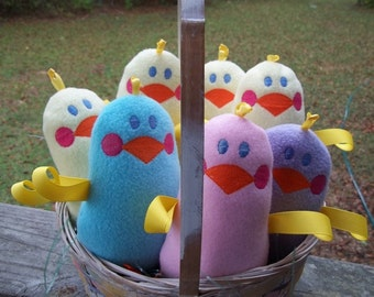 Handmade Plush Pink Chicken - Sensory toy