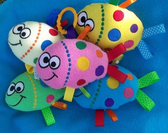 Handmade Bright Yellow Fish Sensory/Tactile Toy - Child Friendly