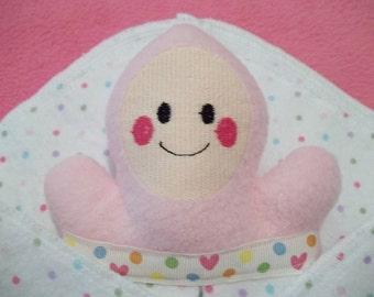 Handmade Pink Baby Security Snuggle Blanket