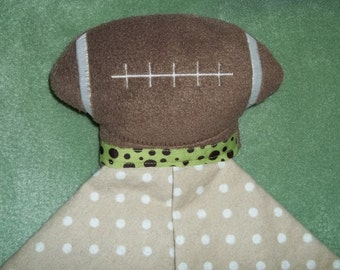 Handmade Plush Football Baby Security Snuggle Blanket