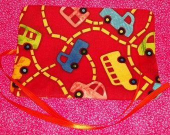 Handmade Double Crayon Wrap holds 15 Crayons - Sandbox Automobiles