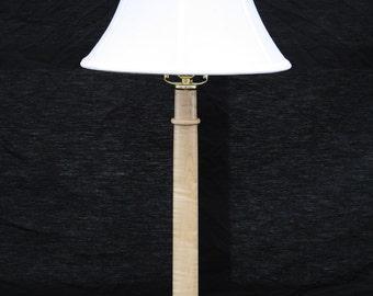 Cherry and Curly Maple table lamp  1804C