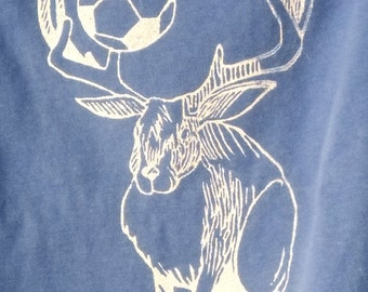 soccer playing jackadeer children's tee free shipping