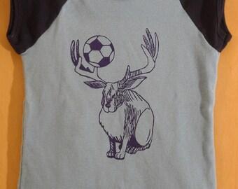 Jackadeer blue girl's t-shirt