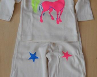 Unicorn Suit--long sleeve shirt and pant set