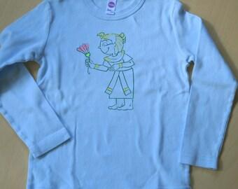 Egyptian Princess on Blue Shirt