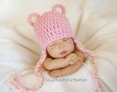 Crocheted Baby Bear Hat, Photography Prop