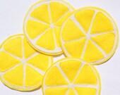 Eco Felt Coasters Set Summer Lemon