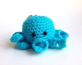 Dark Teal Octopus Keychain/plush