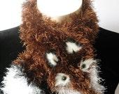 Fuzzy Fox Scarf--Le Renard Chocolat (Chocolate Fox)