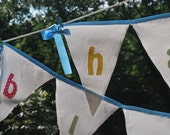 Happy Birthday Fabric Banner Decoration