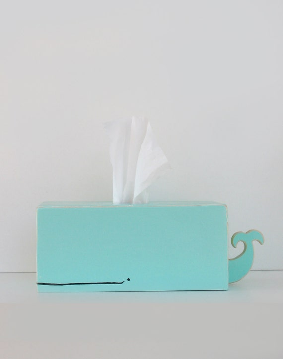 Whale Tissue Holder - Surf Blue - Ships Oct. 1st