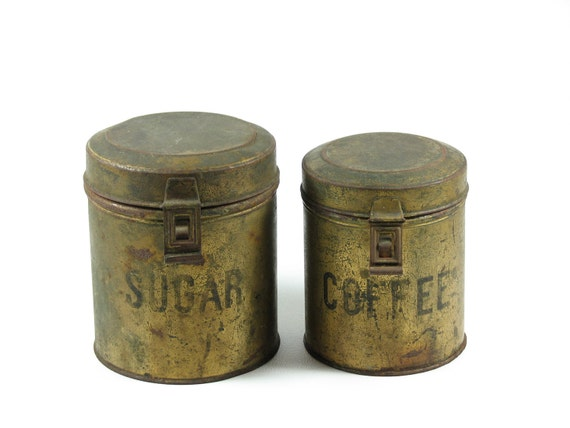 Antique Canister Set Sugar Coffee