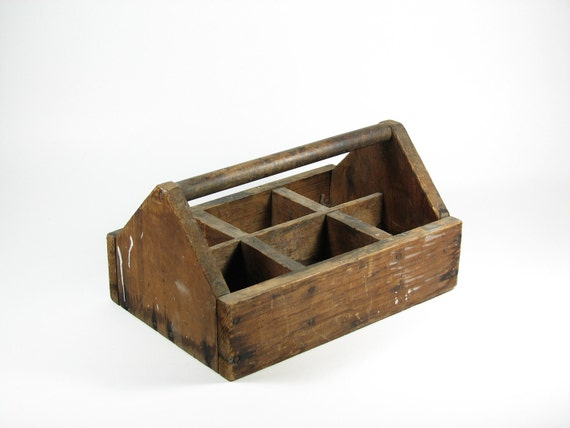 Vintage Wood Storage Tote