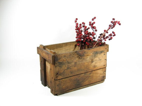Vintage Wood Crate Wooden Box Small