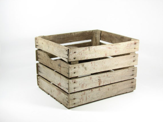 Vintage Wood Crate Box Wooden Crate Fruit Crate