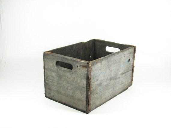 Vintage Wood Crate Wooden Box Barq's Rootbeer Advertising