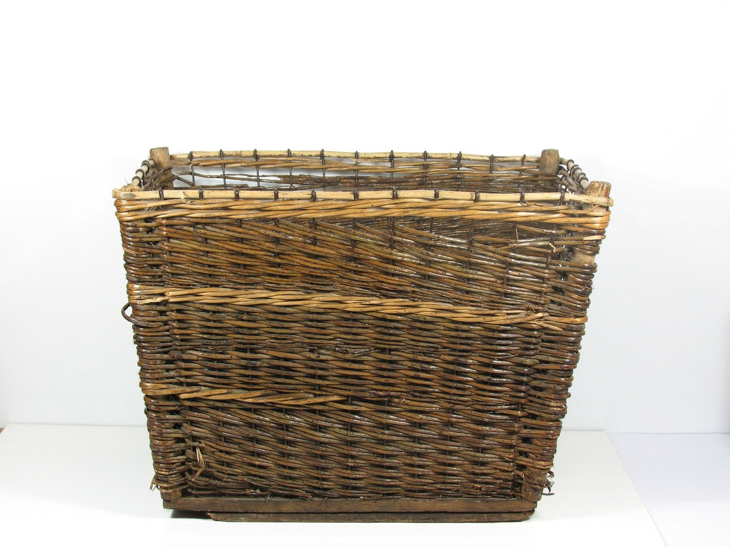 Large Wicker Basket Rectangle Square Shaped