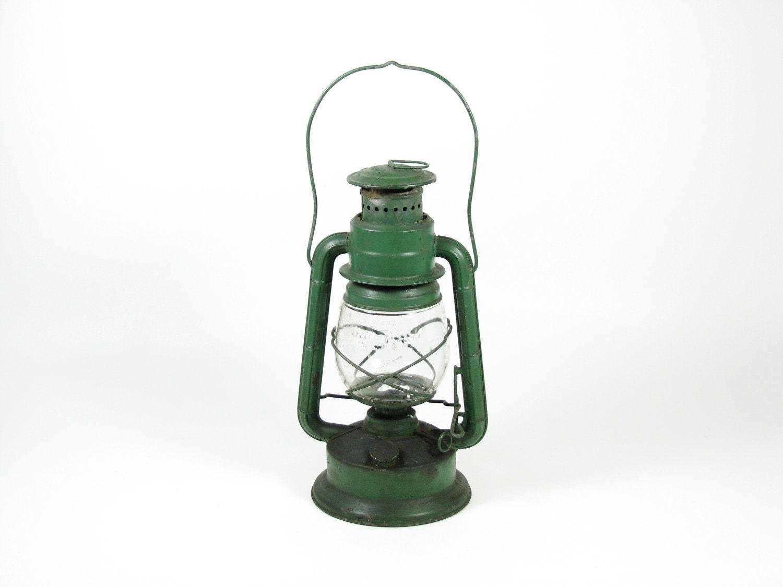 Vintage Dietz Kerosene Lantern Green Little Wizard Hanging